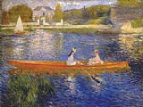 Pierre Auguste Renoir Banks of the Seine at Asnieres I painting