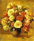 Pierre Auguste Renoir Bouquet of Roses (Bouquet de roses) painting