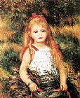 Pierre Auguste Renoir Girl With Sheaf Of Corn painting