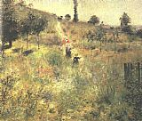Pierre Auguste Renoir Path Climbing Through Long Grass painting