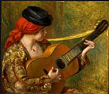 Pierre Auguste Renoir Young Spanish Woman with a Guitar painting