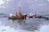 Pino AT THE HARBOUR painting