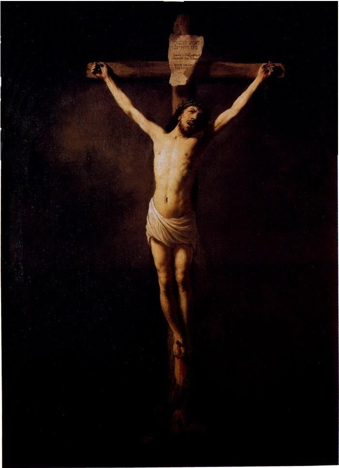 Rembrandt Christ On The Cross
