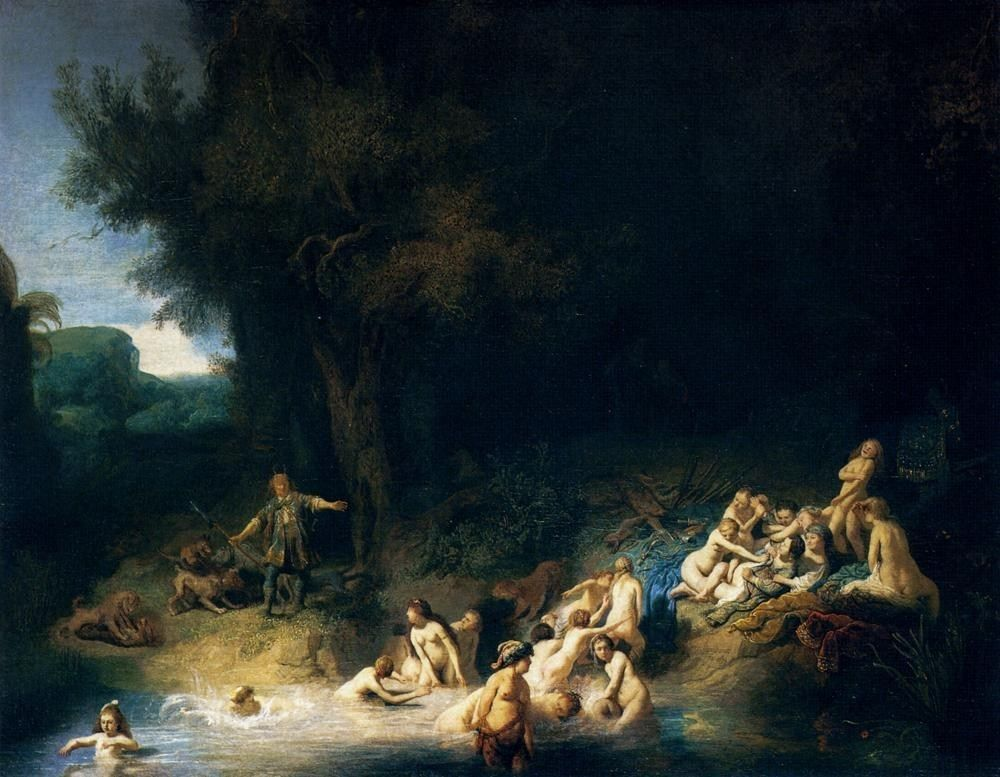 Rembrandt Diana Bathing with the Stories of Actaeon and Callisto