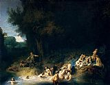 Rembrandt Diana Bathing with the Stories of Actaeon and Callisto painting