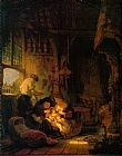 Rembrandt Holy Family painting