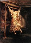 Rembrandt The Slaughtered Ox painting