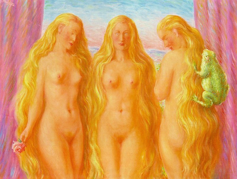 Rene Magritte The Sea of Flames
