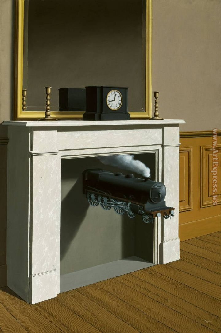 Rene Magritte time transfixed 1938