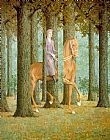 Landscape paintings - The Blank Check by Rene Magritte