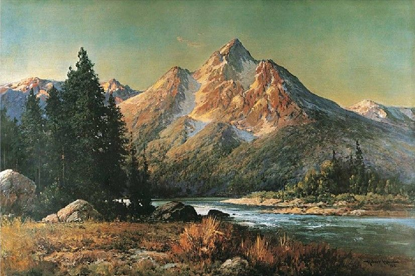 Robert Wood Evening in the Tetons