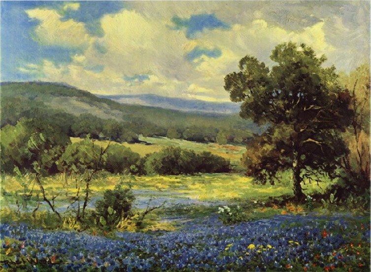 Robert Wood Fields of Blue