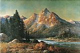Robert Wood Evening in the Tetons painting