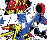 Roy Lichtenstein Blam bright painting