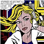 Roy Lichtenstein M-Maybe painting