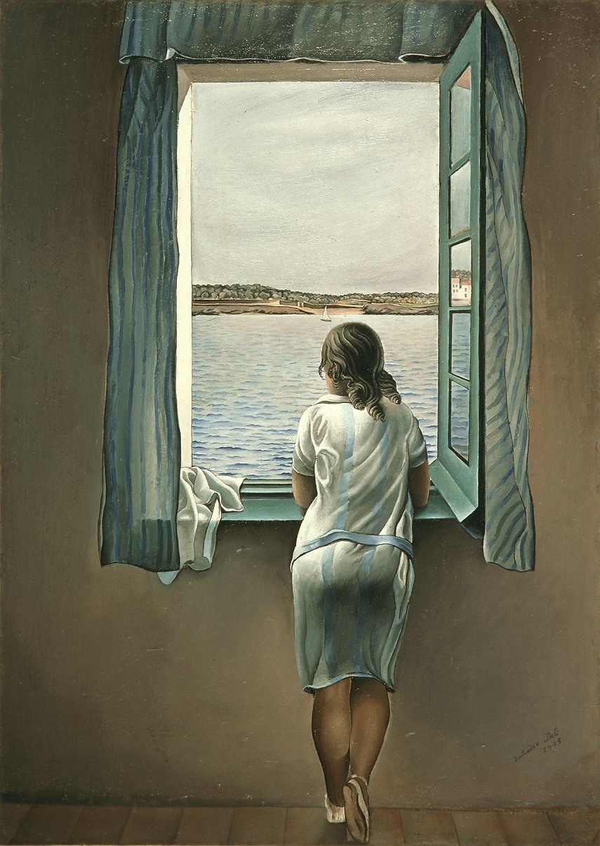 Salvador Dali Figure at a Window I