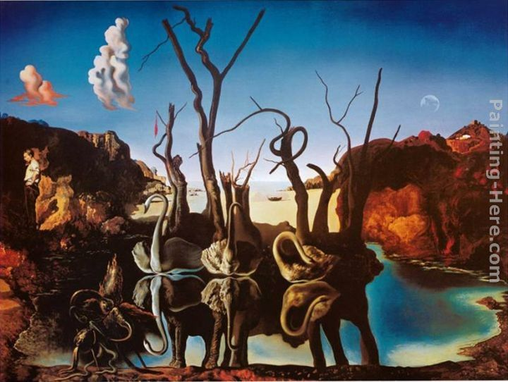 Salvador Dali Swans Reflecting Elephants