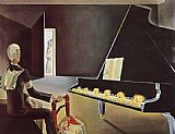 Piano paintings - Evocation of the Apparition Lenin by Salvador Dali