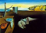 Abstract paintings - clock melting clocks by Salvador Dali