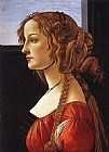 Sandro Botticelli Portrait of a Young Woman painting
