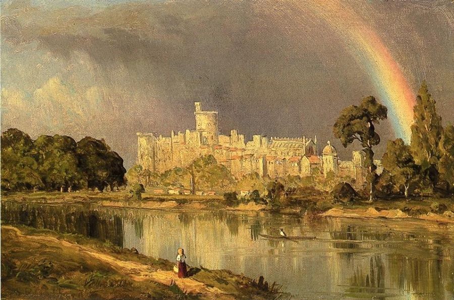 Sanford Robinson Gifford Study of Windsor Castle