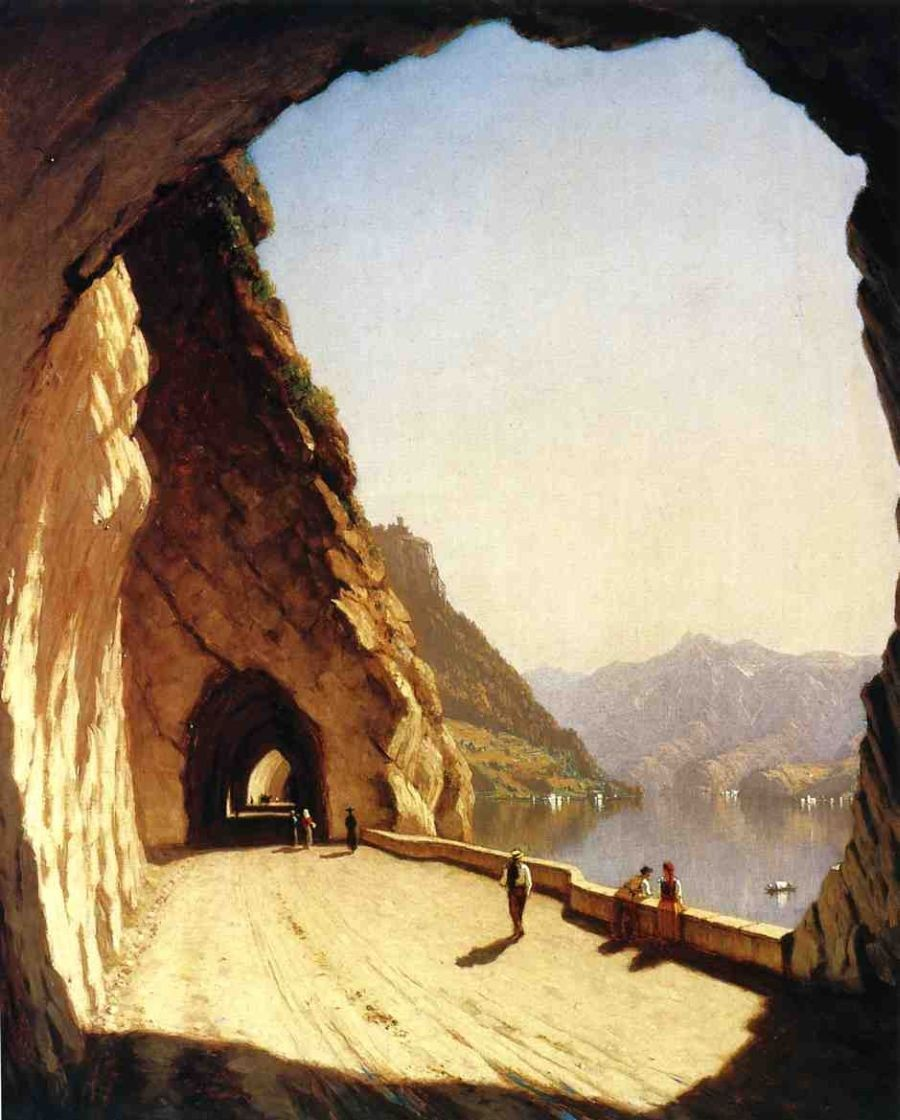 Sanford Robinson Gifford The Galleries of the Stelvio, Lake Como