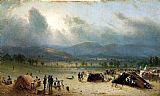 Sanford Robinson Gifford Camp of the Seventh Regiment, near Frederick, Maryland, in July 1863 painting