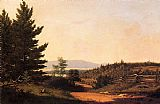 Sanford Robinson Gifford Road Scenery near Lake George painting