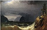 Sanford Robinson Gifford Storm King of the Hudson painting