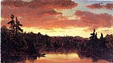 Sanford Robinson Gifford Sunset on Lake George painting