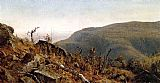 Sanford Robinson Gifford The View from South Mountain in the Catskills, A Sketch painting
