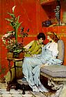 Sir Lawrence Alma-Tadema confidences painting