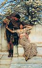 Sir Lawrence Alma-Tadema promise of spring painting