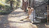 Steve Hanks One Step at a Time painting