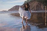 Steve Hanks Reflecting on Indian Beach painting