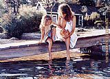 Steve Hanks Touching the Surface painting