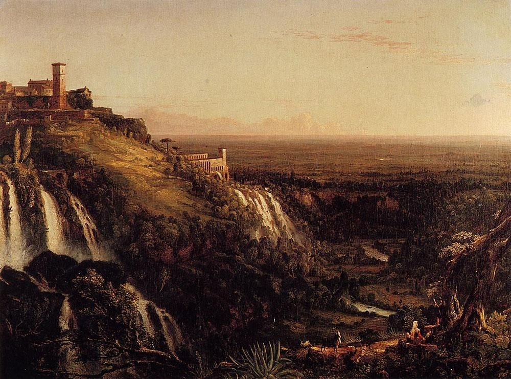 Thomas Cole The Cascatelli Tivoli Looking Towards Rome