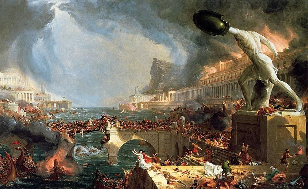 Thomas Cole The Course of Empire Destruction