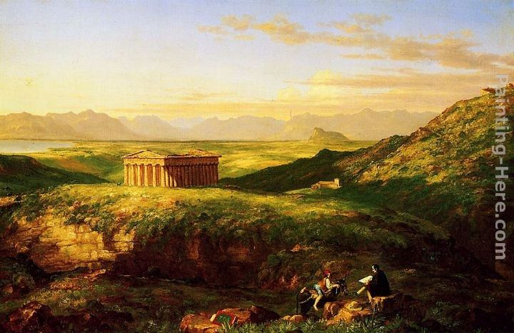Thomas Cole The Temple of Segesta with the Artist Sketching