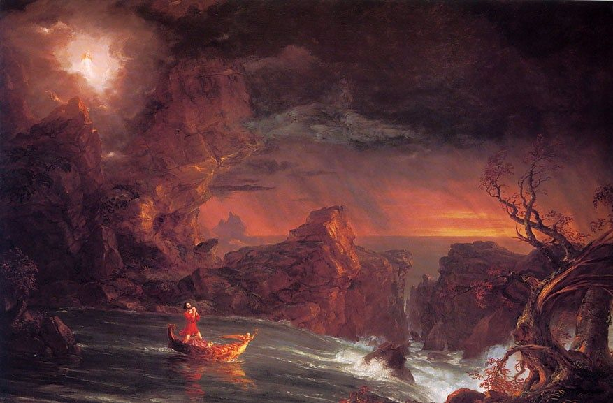 Thomas Cole The Voyage of Life Manhood
