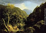 Thomas Cole Autumn in the Catskills painting