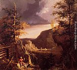 Thomas Cole Daniel Boone Sitting at the Door of His Cabin on the Great Osage Lake, Kentucky painting