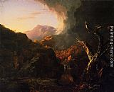 Thomas Cole Landscape with Dead Tree painting