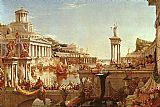 Thomas Cole The Course of the Empire The Consummation painting