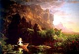 Christ paintings - The Voyage of Life Childhood by Thomas Cole