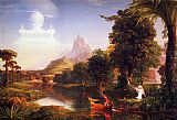 Landscape paintings - The Voyage of Life Youth by Thomas Cole