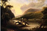 Thomas Doughty Passage of the Delaware through the Blue Mountain painting