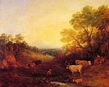 Thomas Gainsborough Landscape with Cattle painting