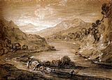 Thomas Gainsborough Mountainous Landscape With Cart And Figures painting