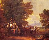 Thomas Gainsborough The Harvest Wagon painting